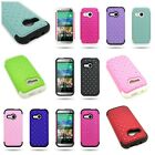 For HTC One Mini 2 / One Remix - Diamond Bling Tough Hybrid Phone Cover Case