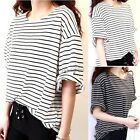 Fashion Womens Short Sleeve T Shirt Casual Loose Tops Blouse Hot Sale 2 Colors