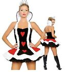 Ladies Queen Of Hearts Fancy Dress Costume Halloween Outfit Alice Wonderland