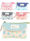 Women Fashion Polka Dot Print Coin Purse Credit Card Case Smartphone Bag Clutch