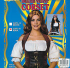 Corset Velvet Ladies Pirate Fancy Dress Black Brown Medieval Womens Read Descrip