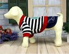 New Pet Puppy Jeans Dog Clothes Clothing Denim Skirt with Pirate Skull Striped