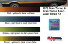 72 1972 Ford Gran Torino laser stripe Stripes RED BROWN BLUE OR GREEN REFLECTIVE