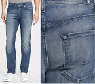 $198 SEVEN 7 FOR ALL MANKIND JEANS SLIMMY LUXE PERFORMANCE NAKKITTA BLUE 31 32