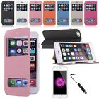 Luxury Deluxe Quick View PU Leather Case Flip Cover Stand For iPhone 6 Plus 5.5""