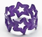80's Bangle Neon Star Bracelet Jewelry Costume Accessory Club Candy Womens