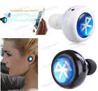 New MiNi Wireless Bluetooth In-Ear Headphones Headset Stereo Mono Earphone ILK