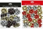 LUXURY BOWS SMALL / LARGE ART CRAFT CHRISTMAS XMAS WEDDING PARTY DECORATION