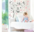 Wall Stickers Owls Dream - Owl Butterfly Flower Swing | Wall Stickers