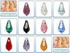 Swarovski Crystal Pendant 6000 Teardrop 11x5.5mm & 15x7.5mm *Many Colours*