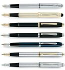 Cross Townsend Fountain Pen. 7 Finishes. Fine or Medium Nibs. ENGRAVED FREE