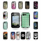 For LG Optimus Zone 2 / Optimus Fuel Hybrid Case Hard Cover w/ Screen Protector