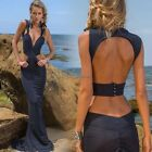 Women Sexy Backless Deep V Party Prom Gown Formal Cocktail Maxi Dress Sz 2-14 DL
