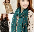 1 Pc New Hot Polka Dot Print Silk Chiffon Scarf Wrap Ladies Long Shawl Scarves