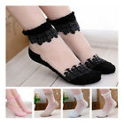 Hot!!New Ultrathin Transparent Beautiful Crystal Lace Flower Elastic Short Socks