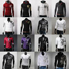 Various Men Casual Tattoo Printed Top Slim Fit Hoodies Sweater Tee Shirts Sweats