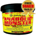 4Kg ANABOLIC MONSTER MASS GAIN PROTEIN - WITH ADDED CREATINE- GLUTAMINE - HMB FC