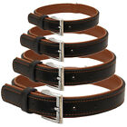 ME & MY PETS QUALITY BLACK & BROWN LEATHER PUPPY/DOG COLLAR SMALL/MEDIUM/LARGE