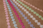 5 Yards 0.98'' Wide Venise Lace Trim Ribbon Embroidered Flower Appliques Sewing