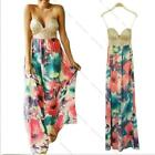 Sexy Long Maxi Gown Summer Long Beach Sundress Cocktail Evening Prom Party Dress