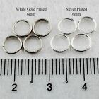 1000 Silver Plated /White Gold Plated Split Ring 6mm