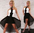 Sexy Cocktail Party Mini Dress clubbing Mullet Dress Black / White Size 8-10-12