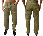 Mens ETO Jeans Designer Stylish Trendy Coloured Denim Chinos Tapered Fit EM 492