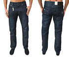 Mens Designer ETO Jeans EM 503 Regular Fit Slim Leg Denim Washed Out Blue Pants