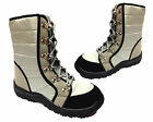 Ladies Womens Warm Fur Lined Lace Up Ankle Snow Winter Boots Shoes Size 4-7