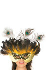 sexy BE WICKED mardi GRAS feathers FEATHERED masquerade BALL costume MASK party