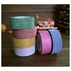 PAPER Glitter Washi Tape Masking Adhesive Deco XMAS Sticker Gift Card Craft Tag