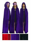 Unisex Halloween Christmas Cosplay Crushed Velvet Hooded Cape Cloak Tippet Hot
