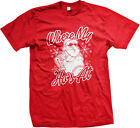 Where My Hos At Ghetto Dirty Santa Claus Merry Christmas Holidays Mens T-Shirt
