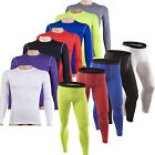 Mens Compression GYM Training Base Layer Long T-Shirt Tops Leggings Tight Pants