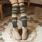 Fluorescence Mixed Colors Legging Socks Thigh Knee Knit Boot Leg Warmers
