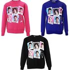 New Girls One Direction Pictures & Name Print Jumper Sweatshirts Age 7-13 Years