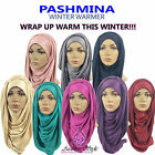 ♡♡ WINTER WARMER PASHMINA ♡♡Big Large Maxi Plain Viscose/Rayon Shawl Scarf Hijab