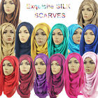 ***SILK***Big Large Maxi Plain Viscose/Rayon Shawl Scarf Hijab