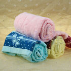 Warm Christmas GiftCotton Bowknot Print Soft Absorbent Cloth Hand Face Towel EW