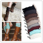 Women Crochet Knitted off White Lace Trim Boot Cuffs Toppers Leg Warmers Socks