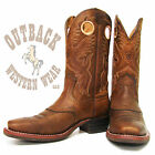Ariat Heritage Roughstock Brown Oiled Rowdy Square Toe Boots 10002227