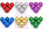 Lot 6X 2.4 in. Christmas Tree Glitter Baubles Hanging Decoration Balls Ornaments