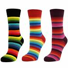 Womens Ladies Girls Stripey Thin Striped Mid Calf Ankle Crew Short Socks New Lot