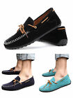 British style Men's Suede Casual Slip On Loafer Shoes Moccasins Driving Shoes UK