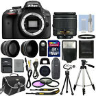 Nikon D3300 Digital SLR Camera Black + 3 Lens: 18-55mm Lens + 32GB Bundle