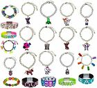 NWT Justice Girls Charm Bracelet Mood BFF Sets Glitter Peace Jewel & More NEW!