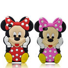 Hot! 3D New Cartoon Minnie Soft Silicone Rubber Case Cover For iPhone & Samsung