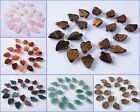 20mm 20pcs Carved gemstone leaf loose beads