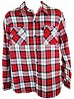 Independant Men's Red/white Check Print Lumberjack Long Sleeve Cotton Shirt New