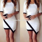 Sexy Overlapped Irregular Hem Women Evening Party Bodycon Summer Mini Dress B23